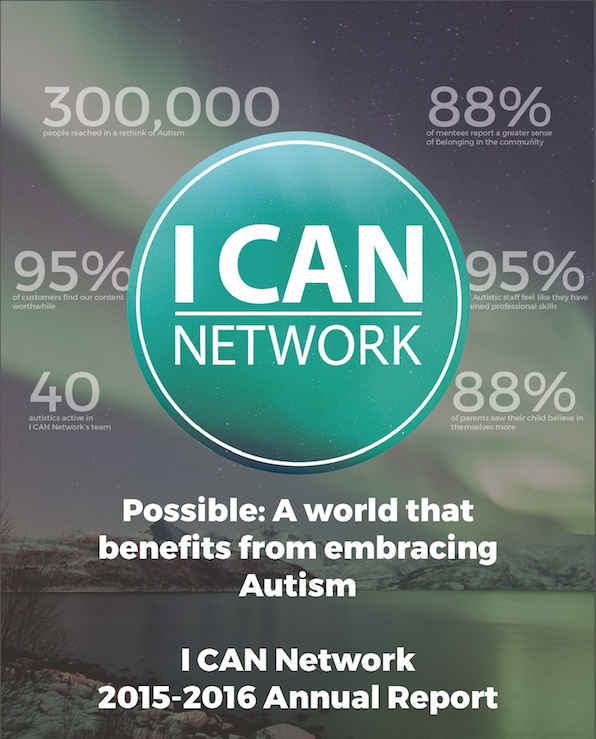 I CAN LTD. ANNUAL REPORT 2015-16