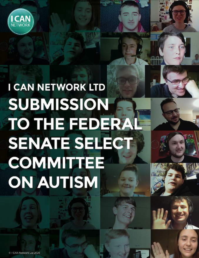 I CAN LTD. 2020 SUBMISSION FEDERAL SENATE SELECT COMMITTEE ON AUTISM