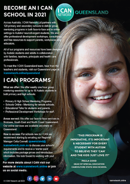 Become an I CAN School - QLD